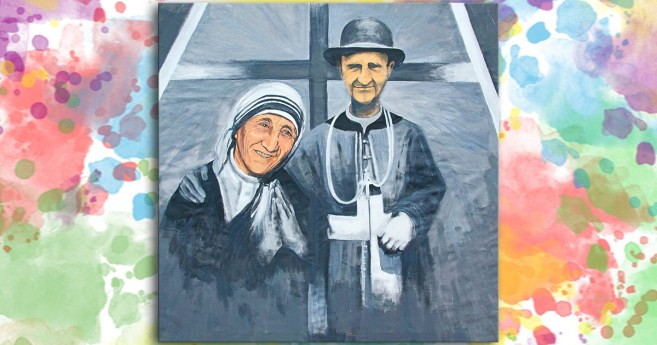 Święta Matka Teresa z Kalkuty i Sługa Boży Biskup Janez Frančišek Gnidovec CM