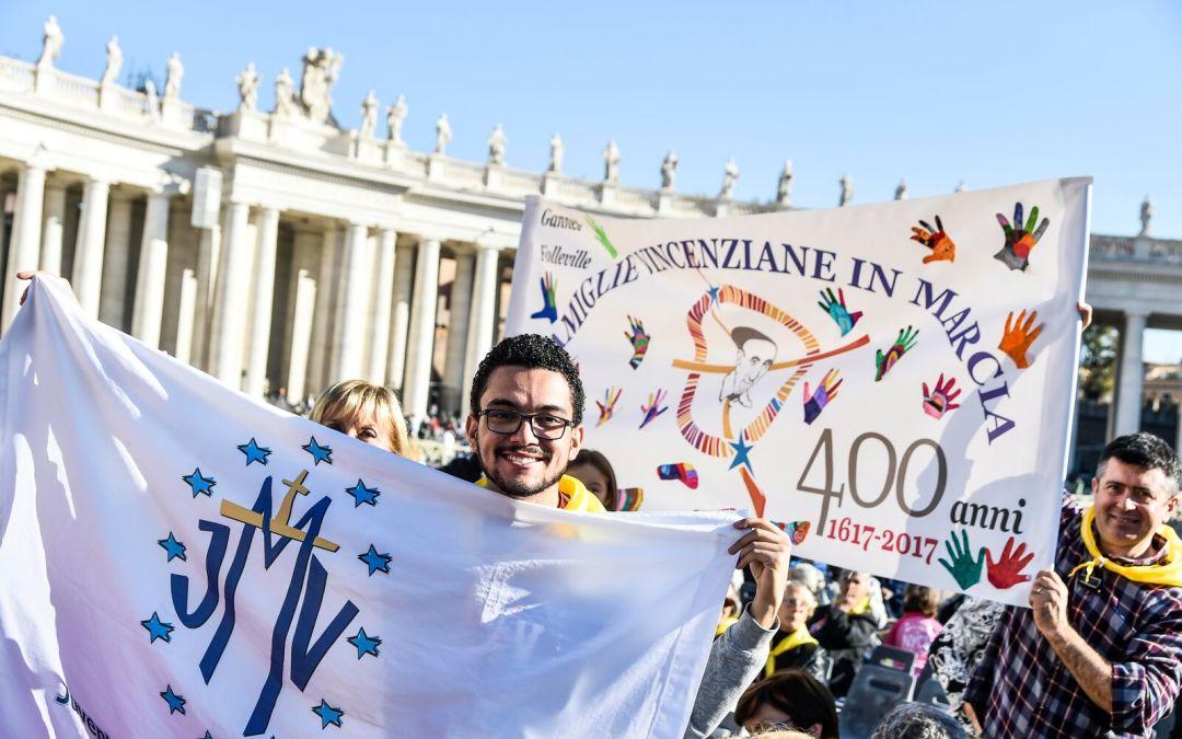 Relato da Juventude Mariana Vicentina sobre a audiência com o Papa Francisco