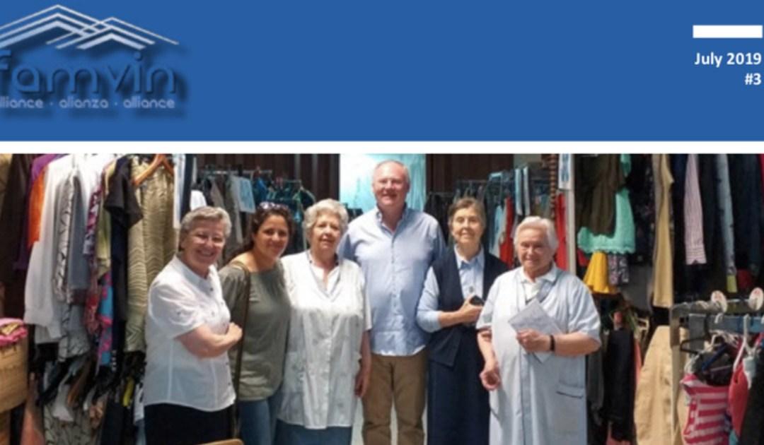 Boletim da Aliança Famvin com os sem-teto – julho de 2019