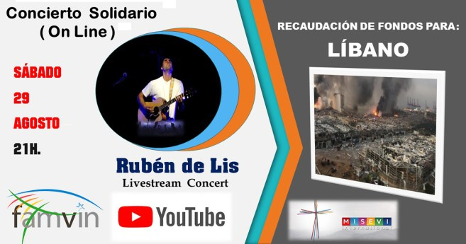 Concerto on-line de solidariedade em favor do Líbano, 29 de agosto
