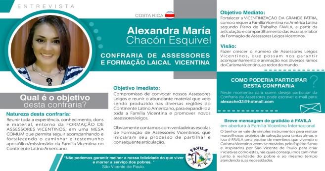Entrevista com Alexandra María Chacón Esquivel, coordenadora da Confraria de Assessores e Formação Leical Vicentina
