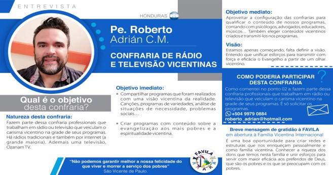 Entrevista com Pe. Roberto Adrián CM, coordenador da Confraria de Rádio y Televisão Vicentinas