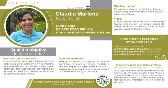 Entrevista com Claudia Marlene, coordenadora da Confraria de Reflexão Bíblica