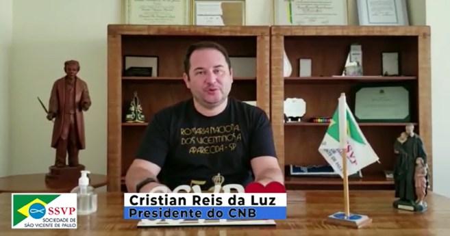 Presidente do Conselho Nacional do Brasil – SSVP sugere criatividade, perseverança e ousadia para vicentinos vencerem os desafios em 2021