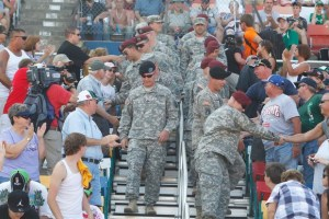 Business and sports leaders will celebrate Memorial Day weekend with more than 10,000 military members and their families with a special luncheon at zMAX Dragway.  Photo - CMS/HHP