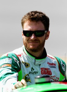 Dale Earnhardt Jr., driver of the #88 Diet Mountain Dew Chevrolet, stands on the grid during qualifying for the NASCAR Sprint Cup Series Good Sam Roadside Assistance 500 at Talladega Superspeedway on October 6, 2012   Photo - Jerry Markland/Getty Images