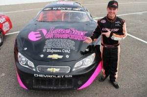 Garrett Marchant stands by his 2013 fan car.  Photo - garrettmarchant.com
