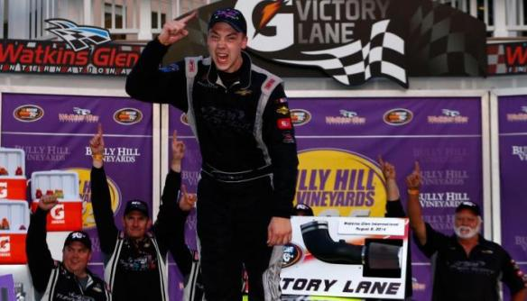 Scott Heckert celebrates his first career K&N East Victory at WGI Photo - Getty Images