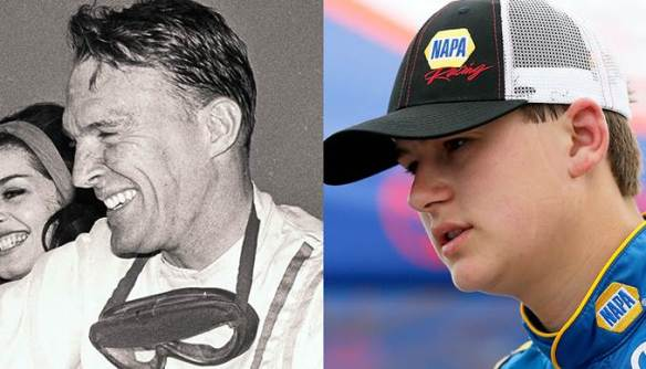 Todd Gilliland (L) looks to make history by beating Dan Gurney's (R) record of winning four straight races. Photo - Getty Images