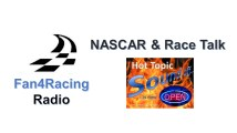 Monday night 8:30 to 10 pm ET is NASCAR & Race Talk with host Sharon Burton. At 10 pm ET is NASCAR Hot Topic Sound Off
