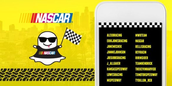 Follow SnapChat and NASCAR driver accounts during TheChase Photo - @NASCAR