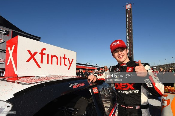 Harrison Burton gets first NASCAR Xfinity Series win at Auto Club Speedway on Saturday, February 29, 2020.