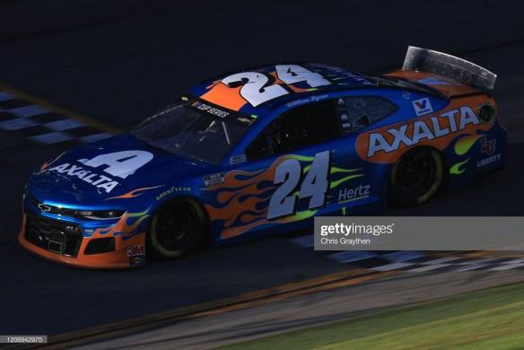 William Byron's No. 24 in the NASCAR Cup Series Daytona 500 at Daytona International Speedway