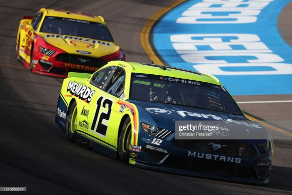 FanShield 500 at Phoenix Raceway with Ryan Blaney in practice on March 6, 2020