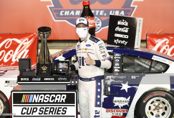 A Late Caution propels Brad Keselowski to Victory in the Coca Cola 600 at Charlotte Motor Speedway