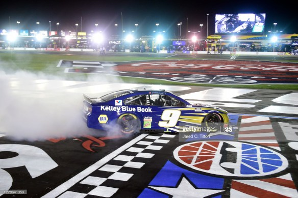 Chase Elliott rides momentum to victory in the NASCAR Cup Series Alsco 500 at Charlotte Motor Speedway.