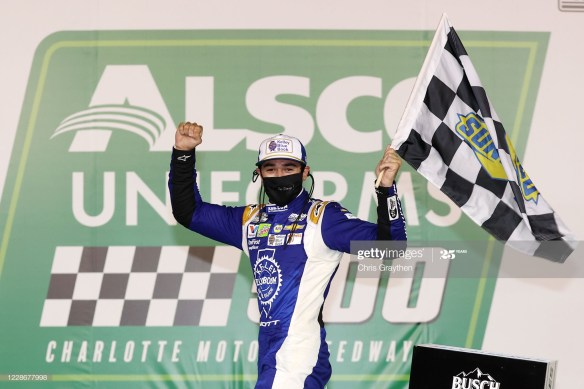 Finally, Fortune Favors Chase Elliott in the NASCAR Cup Series Alsco 500 at Charlotte Motor Speedway.