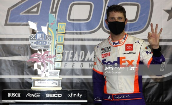 Hamlin's Third 2020 Win in the NASCAR Cup Series came in the Dixie Vodka 400 at Homestead-Miami Speedway on Sunday night. It was his 40th career victory.