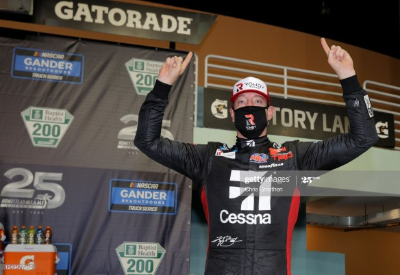 Kyle Busch 58th win in the NASCAR Gander & RV Outdoors Truck Series in the Baptist Health 200 was at Homestead-Miami Speedway on Saturday night.