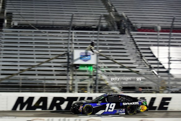 Martin Truex Jr Captures First Win of the NASCAR Cup Series 2020 season at Martinsville Speedway in the Blue Emu Maximum Pain Relief 500.
