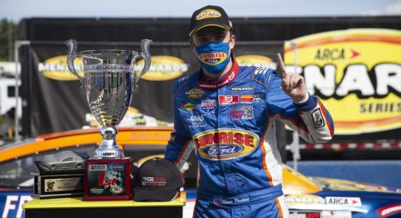 Blaine Perkins' perfect day in the ARCA Menards Series West, ENEOS/NAPA Auto Parts 100 on Friday, August 7th at Evergreen Speedway ends with a victory.