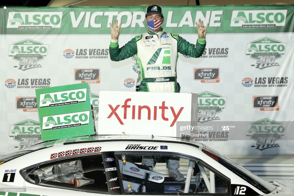 Chase Briscoe continues his dominance in the NASCAR Xfinity Series Playoffs by winning the Alsco 300 at Las Vegas Motor Speedway.