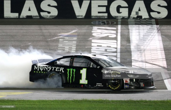 A first Las Vegas win for Kurt Busch in the South Point 400 at Las Vegas Motor Speedway advances him to the Round of 8 NASCAR Cup Series Playoffs.