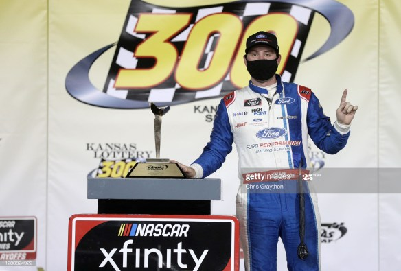 Briscoe secures a Championship 4 spot with a victory in the Kansas Lottery 300 at Kansas Speedway on Saturday evening, October 17, 2020.