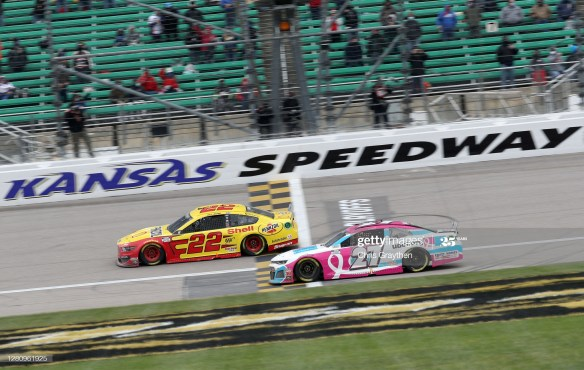 Joey Logano earns clutch win in the NASCAR Cup Series Hollywood Casino 400  on Sunday, October 18th at Kansas Speedway.
