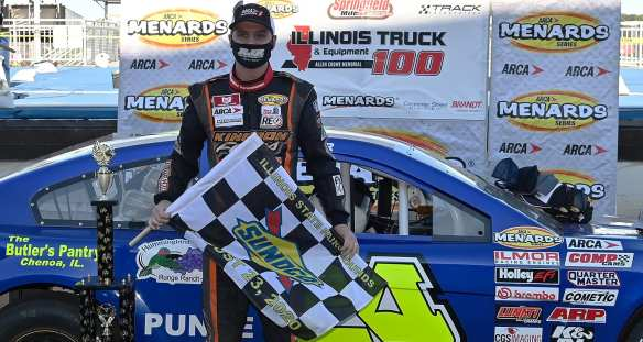 Ryan Unzicker dominates Springfield dirt race in the ARCA Menards Series Illinois Truck & Equipment Allen Crowe 100 at the Illinois State Fairgrounds.