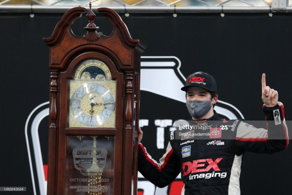 Martinsville's victory, Harrison Burton wins the NASCAR Xfinity Series Draft Top 250 on Saturday afternoon at Martinsville Speedway.