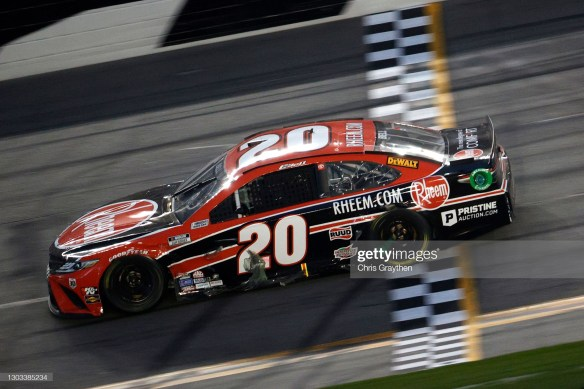 Christopher Bell's late push in the closing laps earns him his first NASCAR Cup Series win on the Daytona Road Course on Sunday evening.