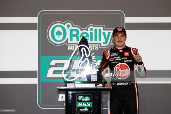 Christopher Bell earns first win in the NASCAR Cup Series on the Daytona Road Course by passing Joey Logano late on Sunday afternoon.