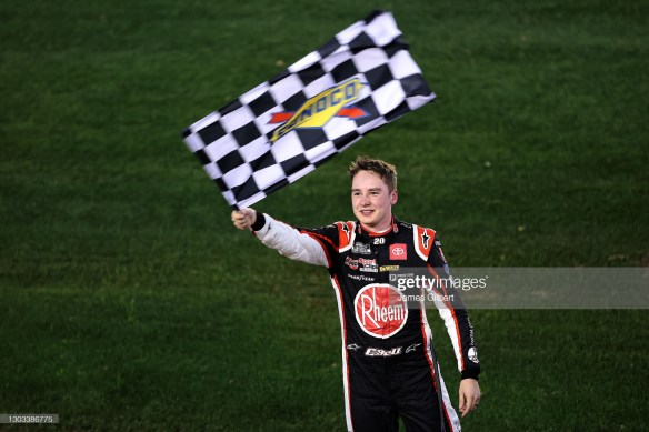 Christopher Bell is a NASCAR Cup Series winner this season with his new crew chief, Adam Stevens at Joe Gibbs Racing.
