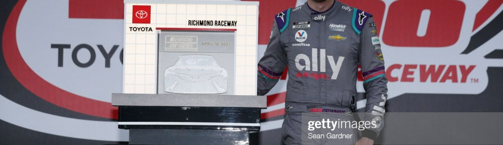 Alex Bowman steals a Richmond win from a dominan Denny Hamlin in the NASCAR Cup Series, Toyota Owners 400 at Richmond Raceway on Sunday.