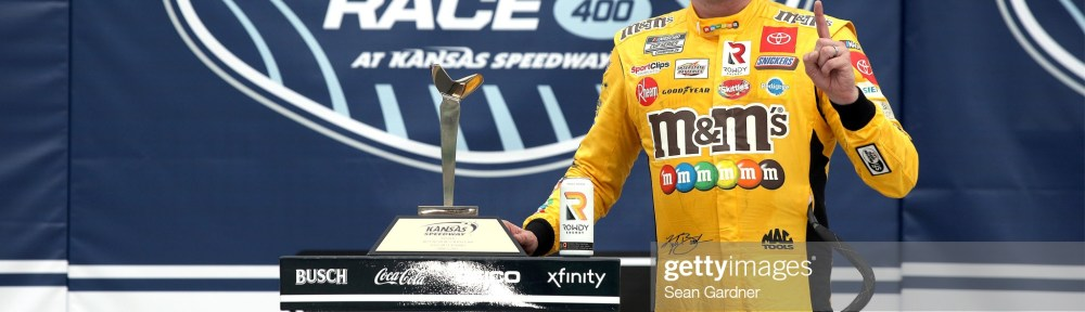 Kyle Busch gets a birthday present with a win at Kansas Speedway in Buschy McBusch Race 400 on Sunday after winning the Truck Series Saturday.