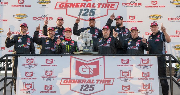 Ty Gibbs is perfect in return to the Monster Mile for the ARCA East General Tire 125 at Dover International Speedway on Friday night.
