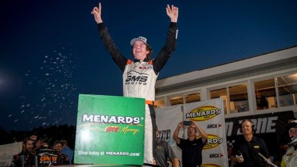 Daniel Dye wins his first ARCA Menards Series race in dominating fashion at Berlin Raceway in the Zinsser SmartCoat 200 on Saturday night.