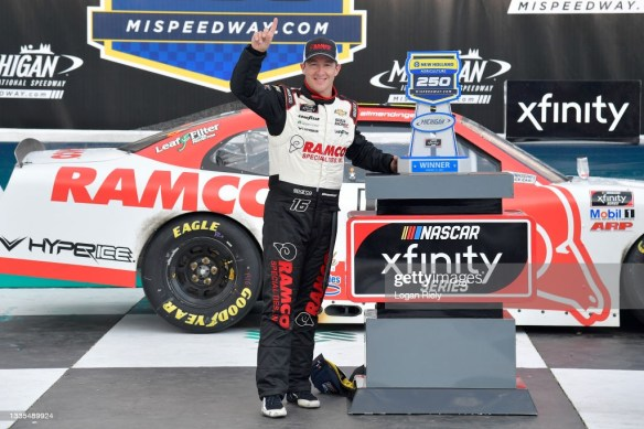 AJ Allmendinger's dream continues with a NASCAR Xfinity Series victory at Michigan International Speedway on Saturday afternoon.