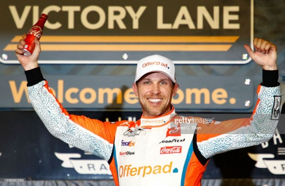 Denny Hamlin Opens NASCAR Cup Series Playoff with a Win at Darlington Raceway in the Cook Out Southern 500 on Sunday evening.