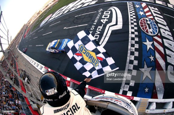 Kyle Larson races to victory at the Charlotte Roval in the NASCAR Cup Series Bank of America Roval 400 on Sunday afternoon.