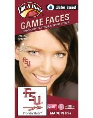 CB-13_Fr - Florida State (FSU) Seminoles - Water Based Temporary Spirit Tattoos - 4-Piece - Garnet/Gold FSU Spear Logo