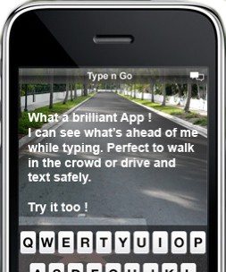 Type While Walking iphone app
