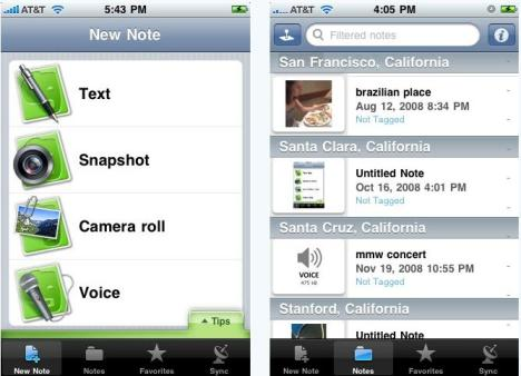 evernote iphone app review
