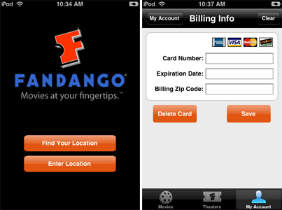 fandango iphone app review
