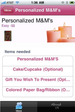 Creative Romantic Ideas iPhone App Review