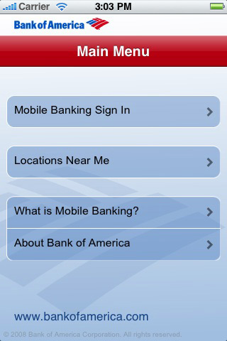 bank of america iphone app review