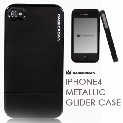 iPhone 4 Metallic Glider Case Black