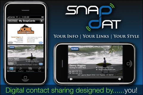 SnapDat Digital Business Cards iPhone App Review