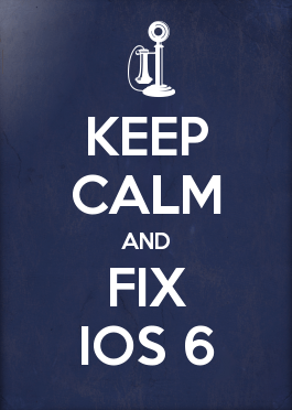 Fix iPhone iOS 6